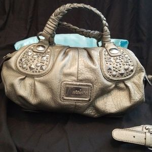 Silver Guess hand bag